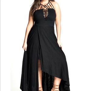 City Chic Plait detail maxi dress size xxl 24